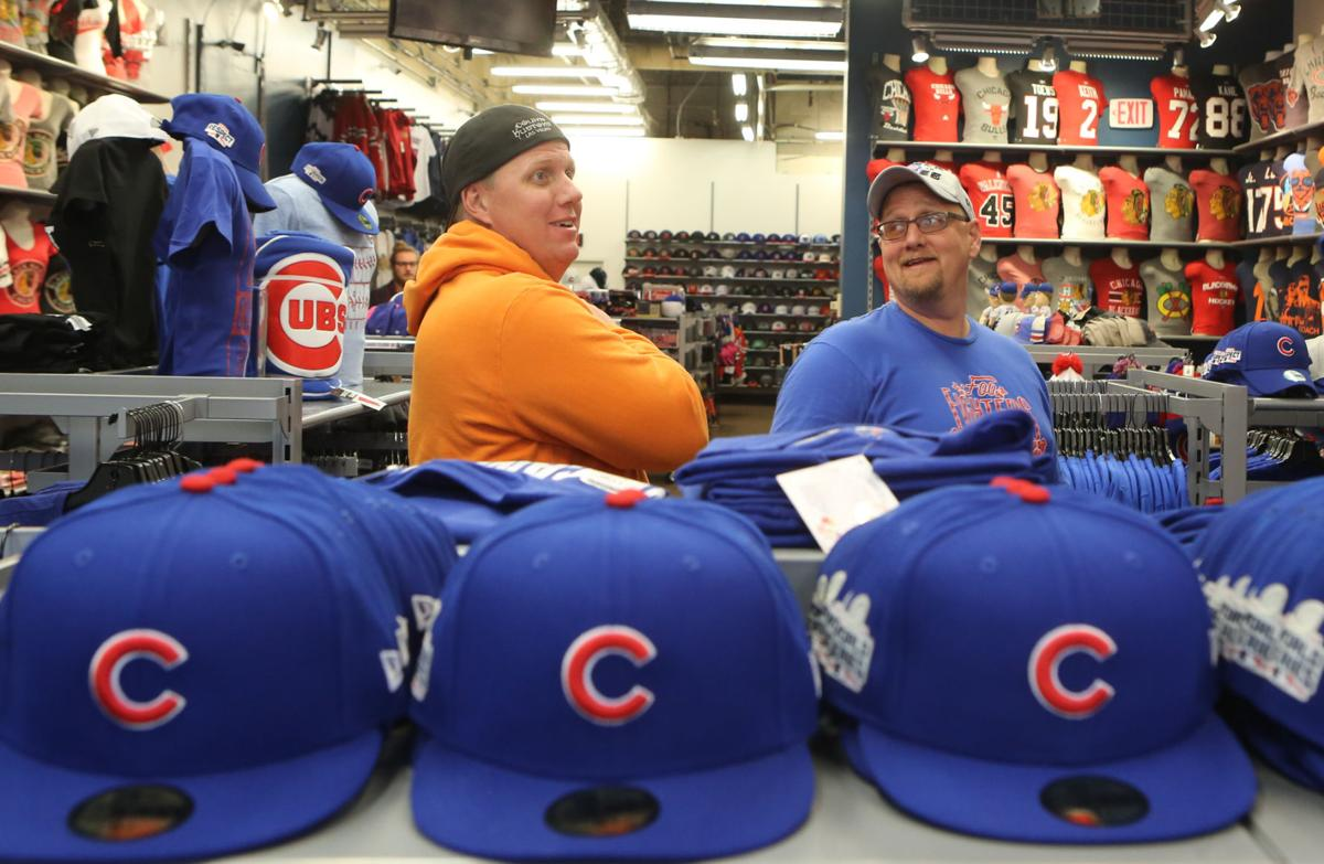 Cubs collectibles at Clark Street Sports