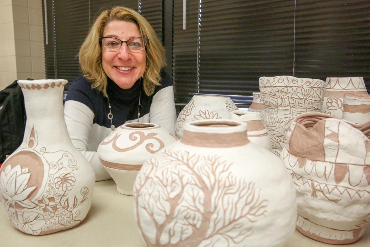 Highland High School art teacher Rhonda Szymanski