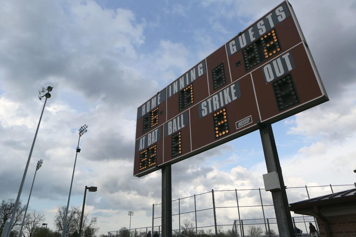 Spring scoreboard stock