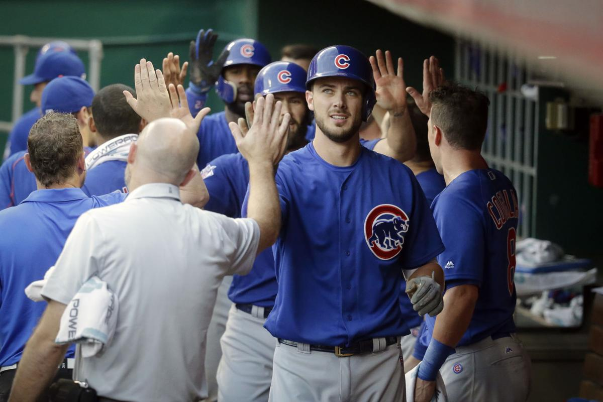 1dfe1fe0745 Kris Bryant was one of five Cubs players — the entire infield and one  outfielder — to be voted as a starter for the MLB All-Star Game.