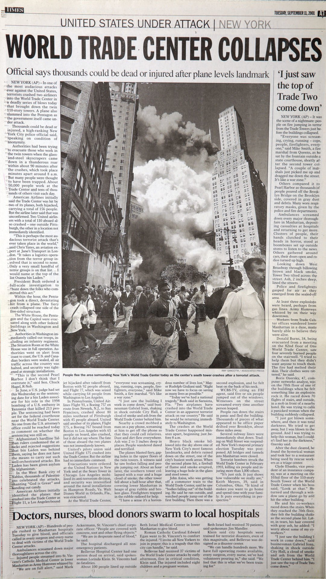 Gallery: The Times extra from Sept. 11, 2001