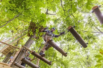 Zip line adventure park, new water slide coming to Deep River