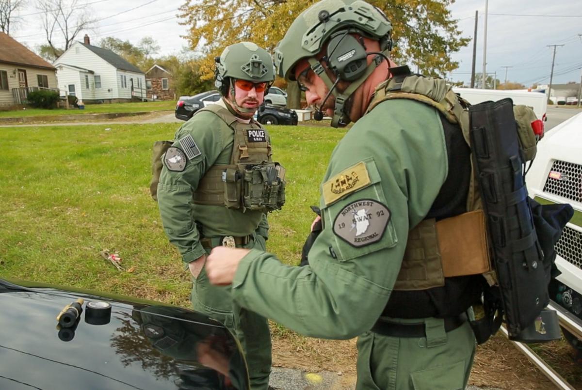 SWAT team has real blast at training session
