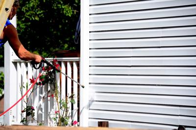 Power-washing your home's exterior