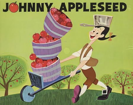 "Johnny Appleseed as Depicted in the 1948 Walt Disney Pictures Animated Film ""The Legend of Johnny Appleseed"""