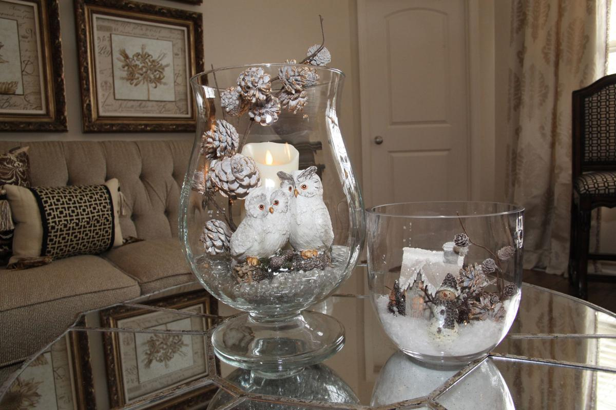 Use your glass containers to make stunning holiday décor