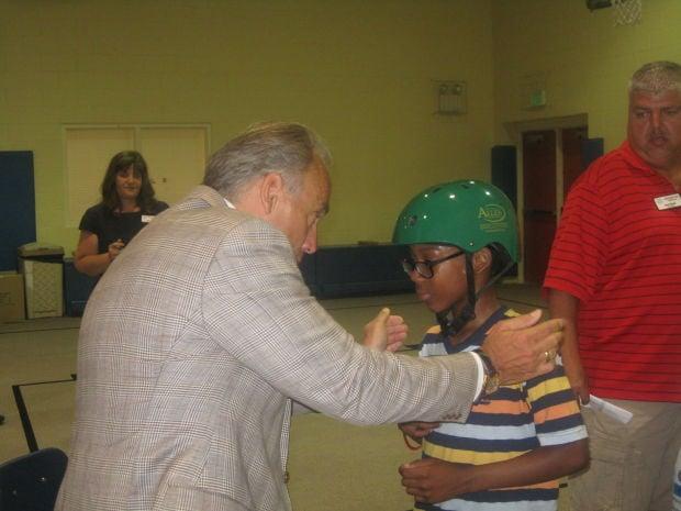 Bike helmets distributed to 500 children
