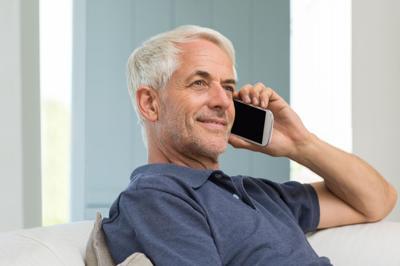 talking on phone stock