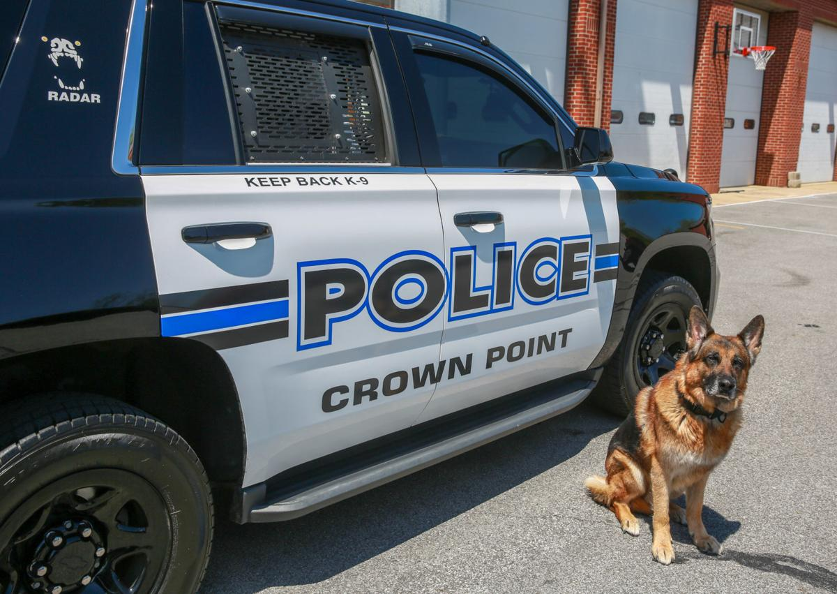 Crown Point K-9 Radar will be retiring from his patrol duties this summer.