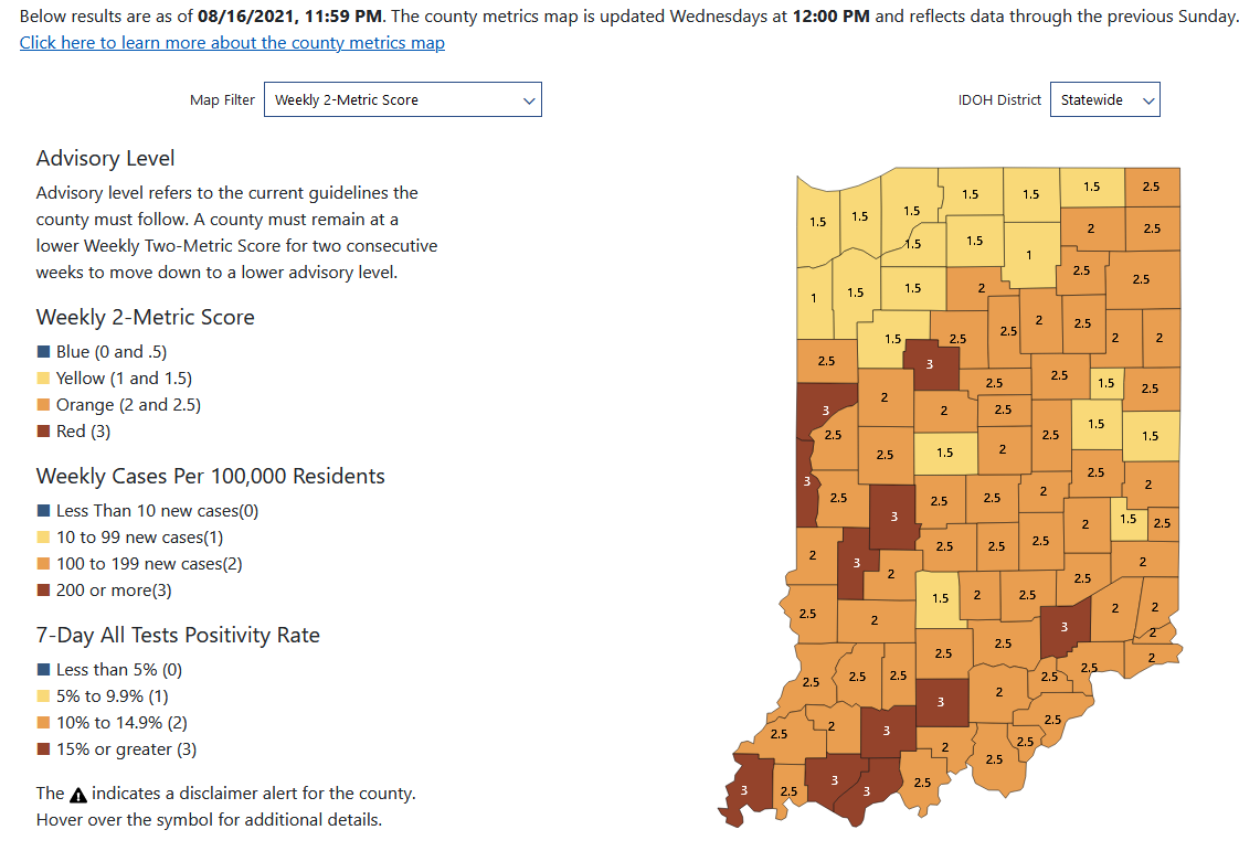 New Indiana COVID-19 cases top 4,000 a day for first time since January
