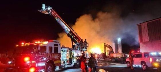 Crown Point barn fire
