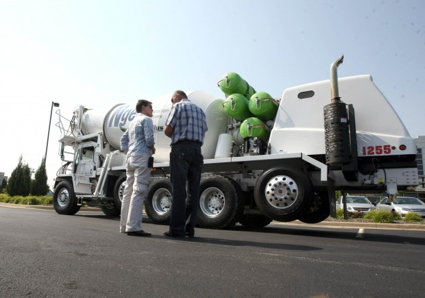Natural gas powers Ozinga trucks