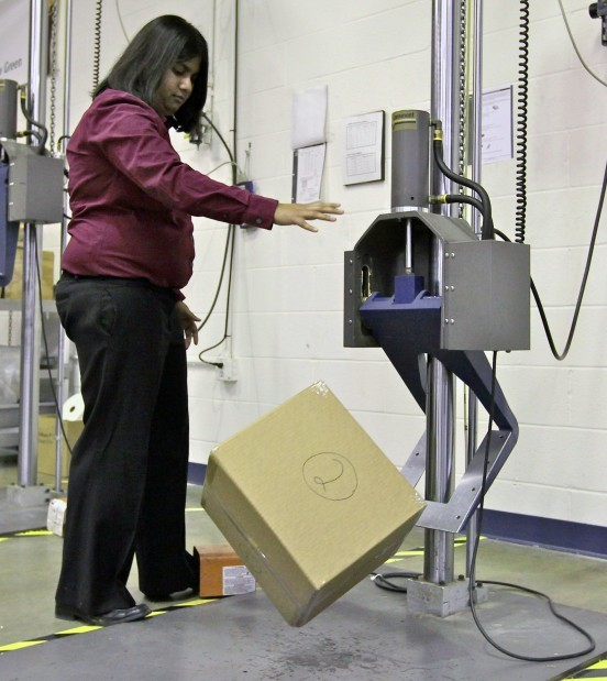 UPS design lab puts boxes to the smash test