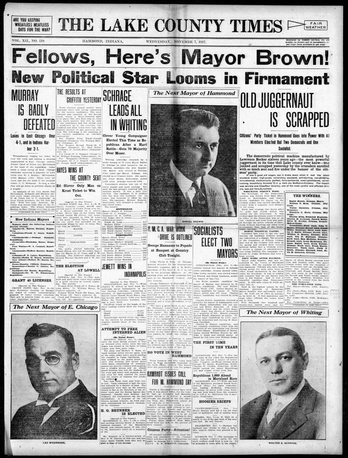 Nov. 7, 1917: New Political Star Looms in Firmament