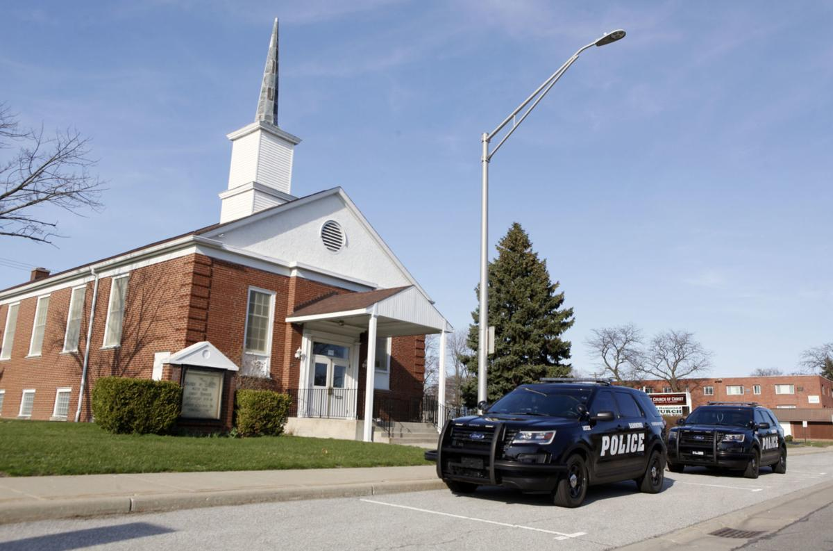 Police enforce stay-at-home order against church