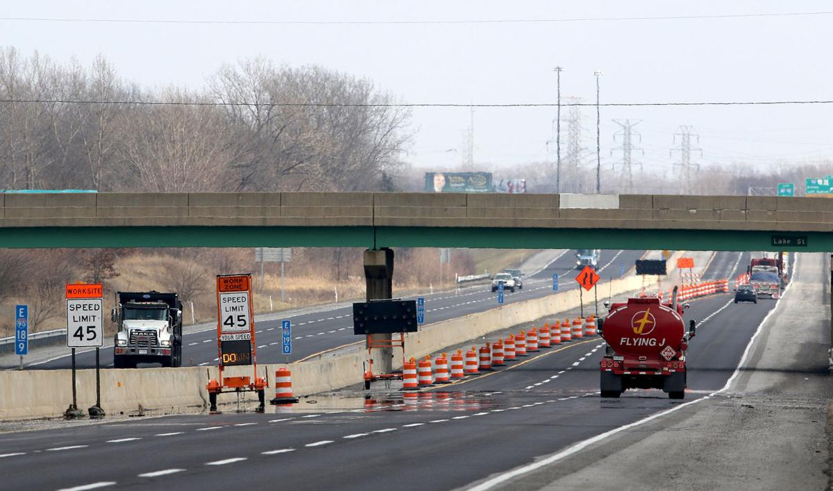 Indiana Toll Road construction
