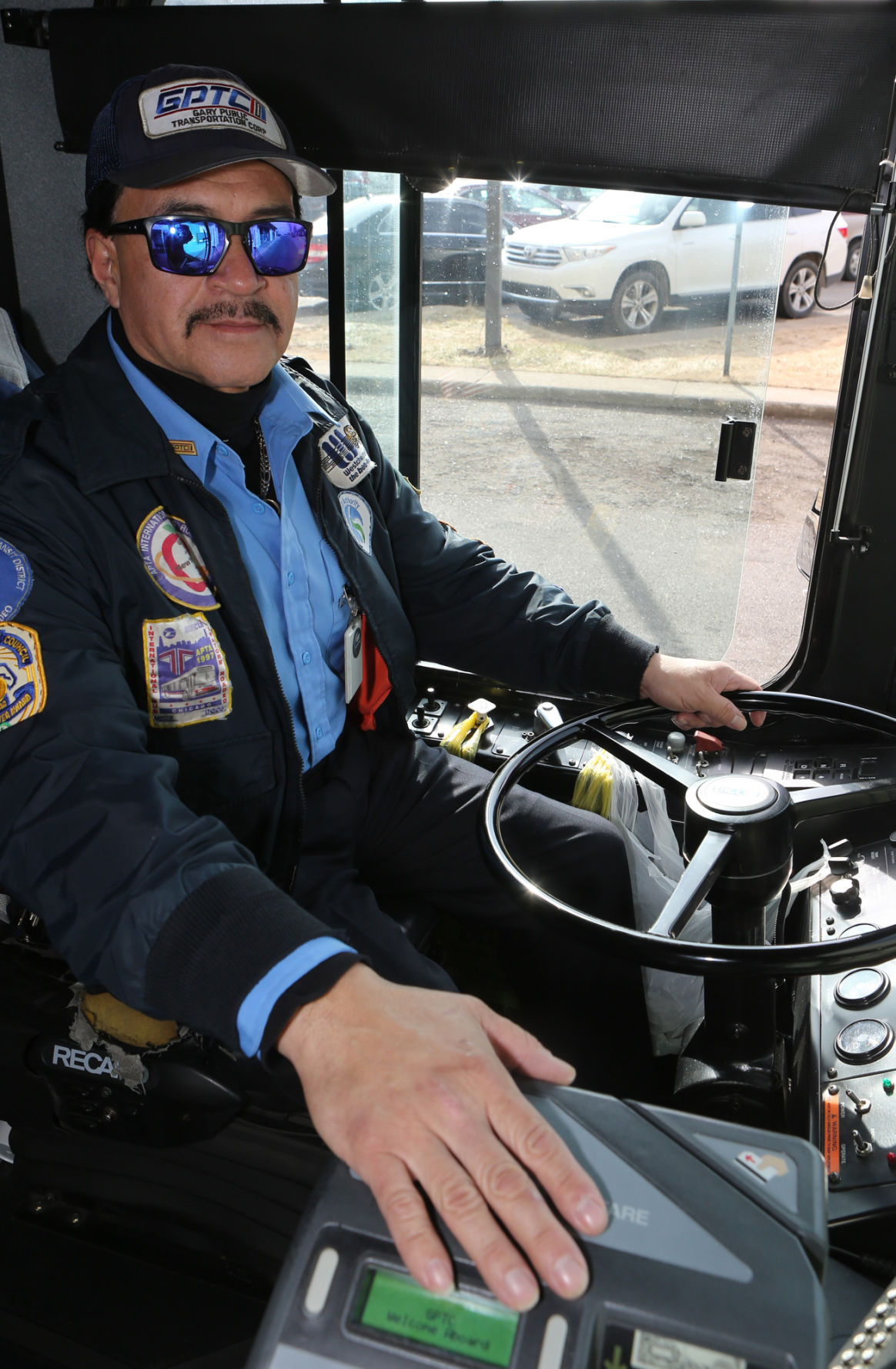 Amador Mandujano Jr. is a bus driver for the Gary Public Transit Corp.