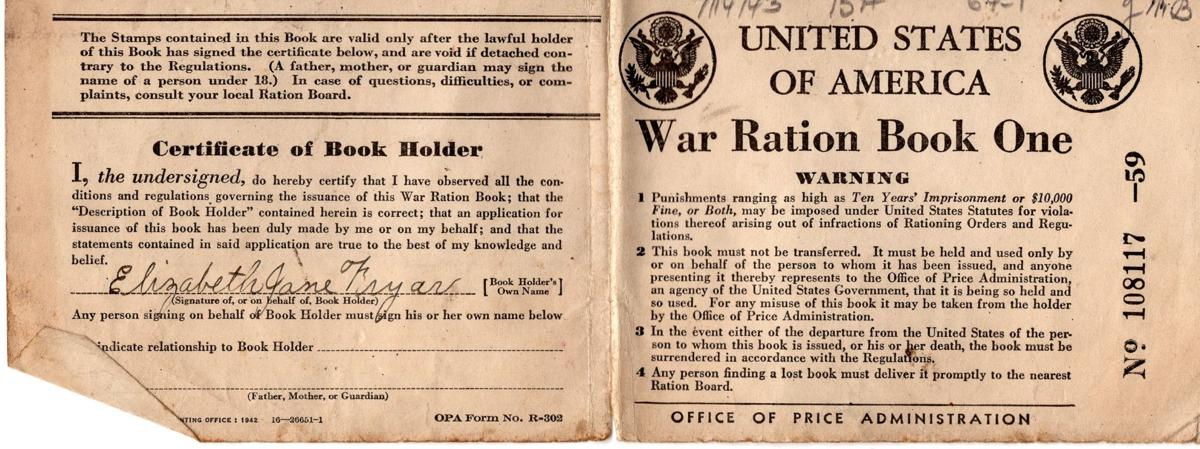 World War II rations book