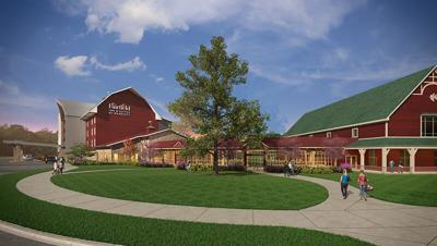 Fair Oaks Farms opens barn-shaped hotel with custom suites