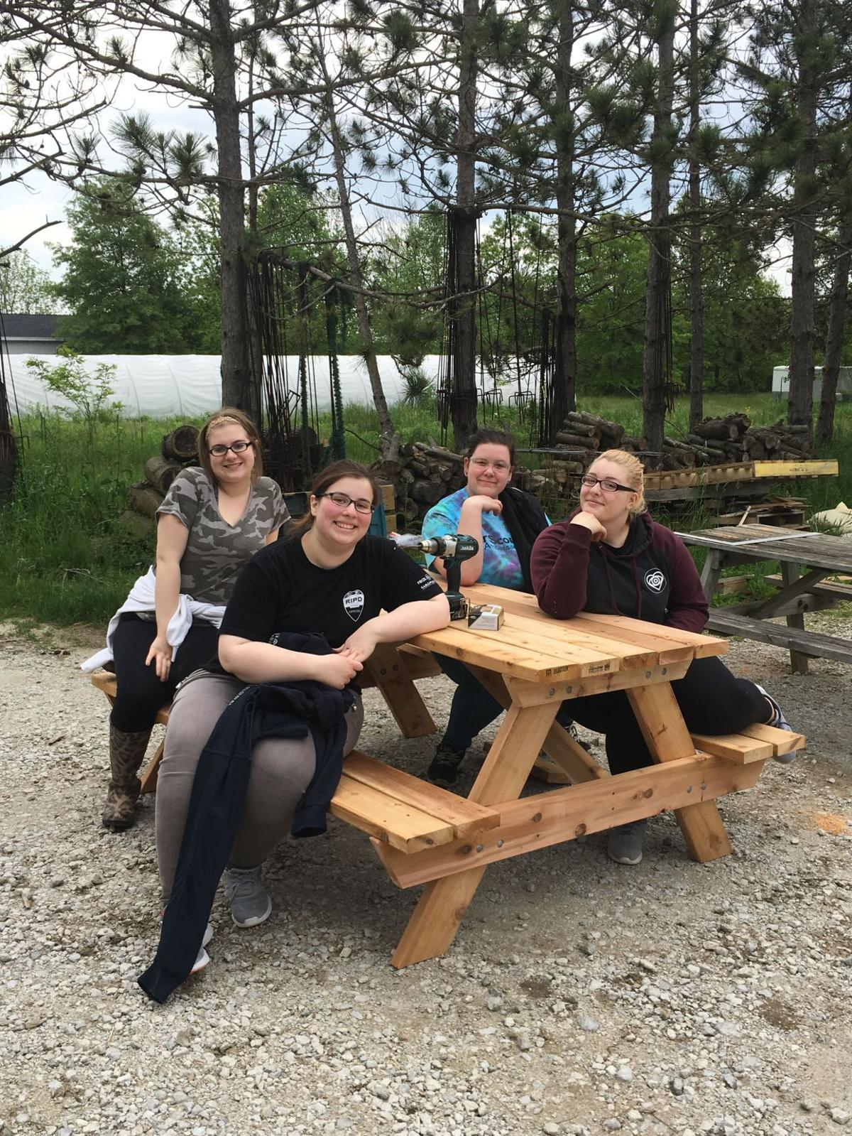 Ambassador Girl Scouts volunteer at Taltree Arboretum & Gardens