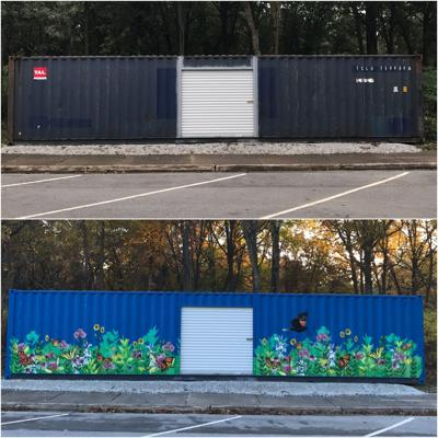 Mural at Miller Woods' Douglas Center celebrates 'Native Prairie'