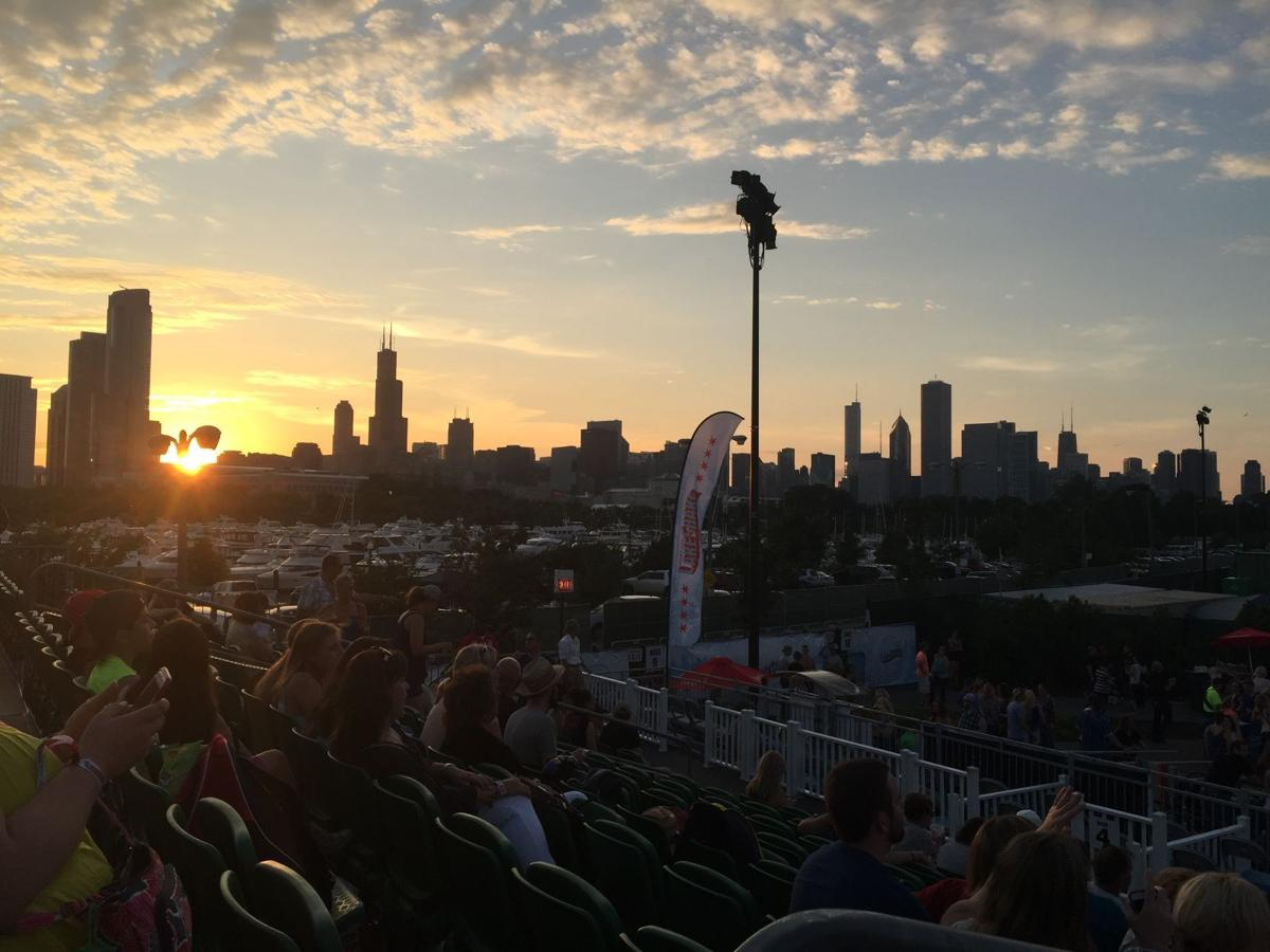 View from Northerly Island during LakeShake