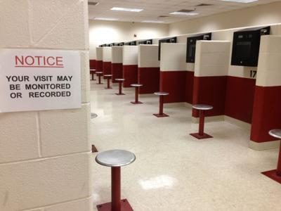 Porter County jail visitation room