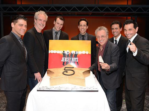 """Bob Gaudio and Frankie Valli and the Las Vegas Cast of """"Jersey Boys"""" at Paris Hotel and Casino"""