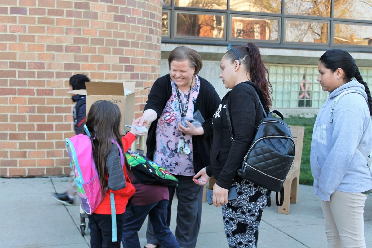 Whiting schools Walk to School day