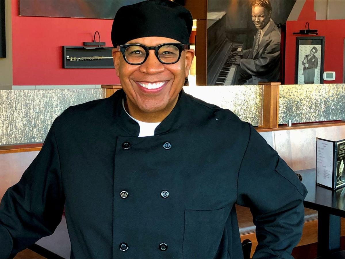 Johm Moultrie in the dining room of Bistro on the Green