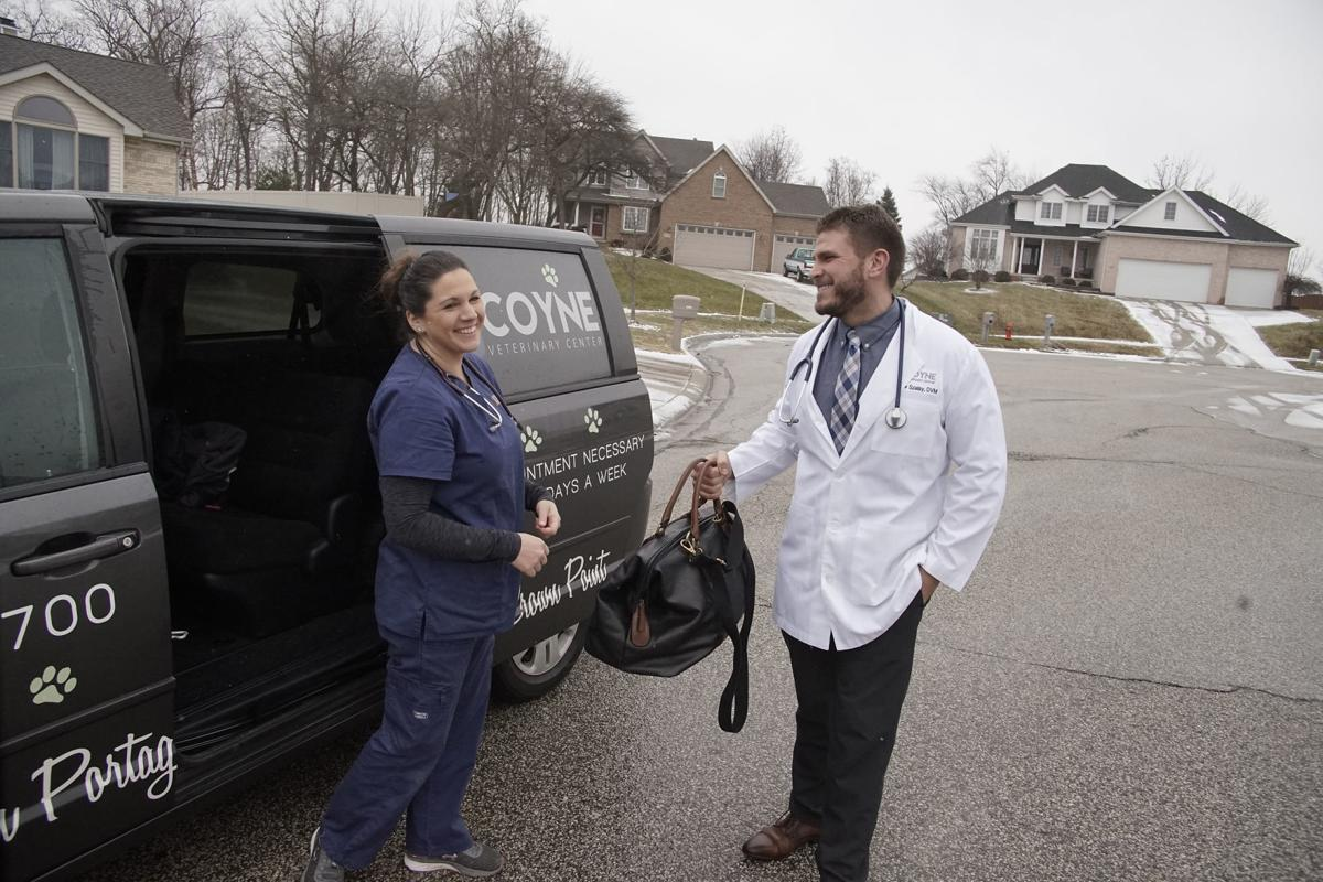 Region veterinarians go mobile to bring wellness services to large, anxious pets