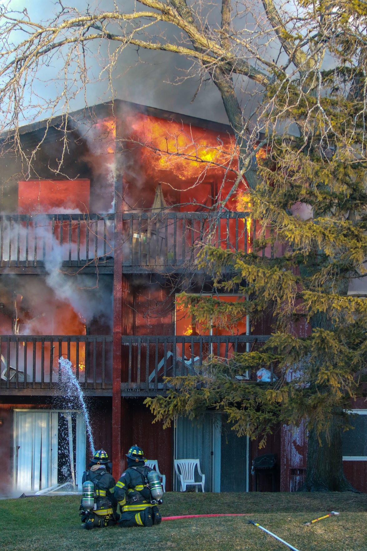 Highland apartment fire