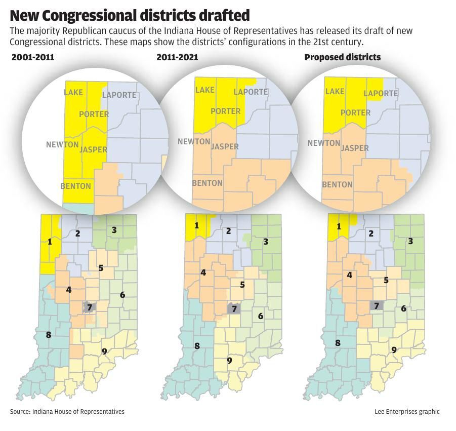 Proposed Indiana congressional district map