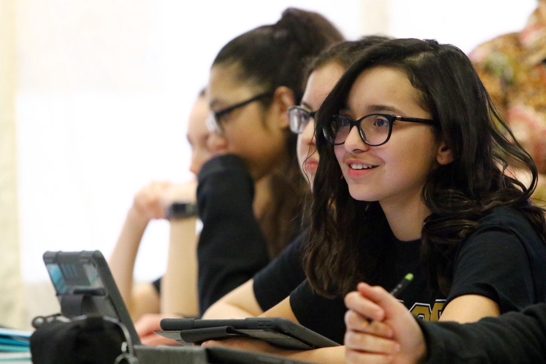 Adriana Lopez at HAST Hammond Academy of
