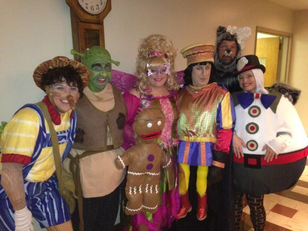 """The Cast of """"Shrek: The Musical"""" at Marian Theatre Guild in Whiting"""