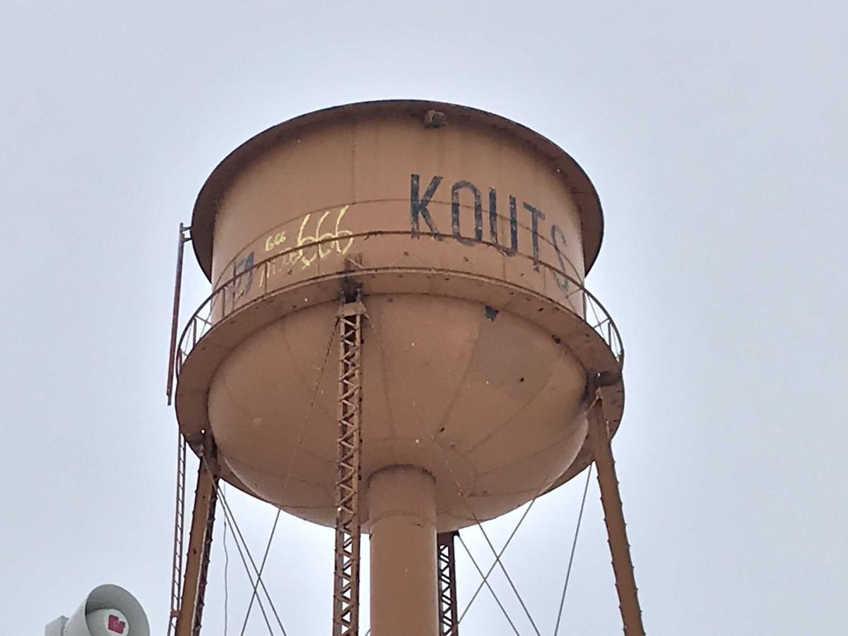 Kouts water tower