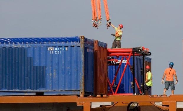 Heavy crane shipment heading to BP Whiting Refinery