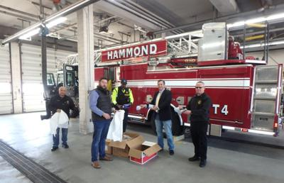 Trade unions donate personal protective equipment to fire departments