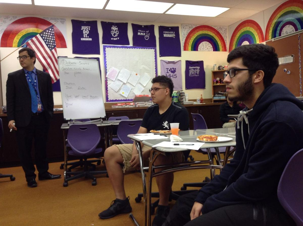 Hammond High students debate the debate