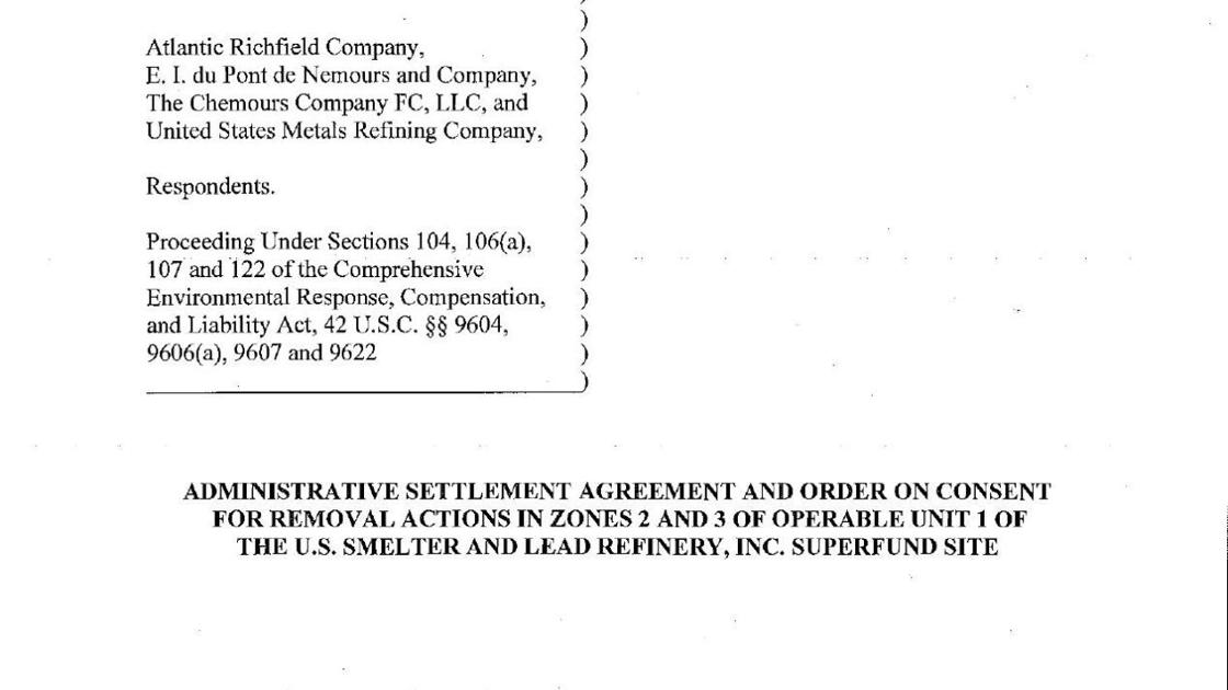 2017 Administrative Settlement For Uss Lead Superfund Site