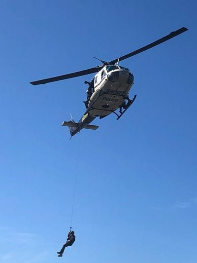 Lake County Sheriff's Department helicopter unit gearing up for hoist rescues