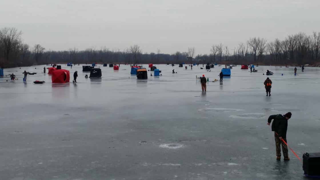 Ice fishing derby success lake county news for Ice fishing indiana