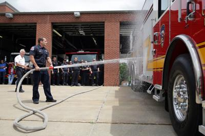 Crown Point holds wetting ceremony for new truck