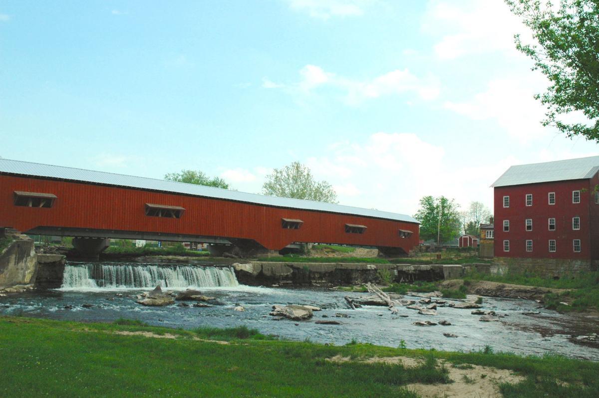 Bridgeton and Mill with Waterfall