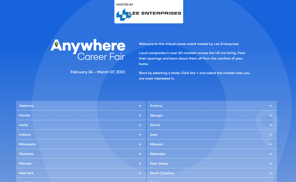 career fair screenshot