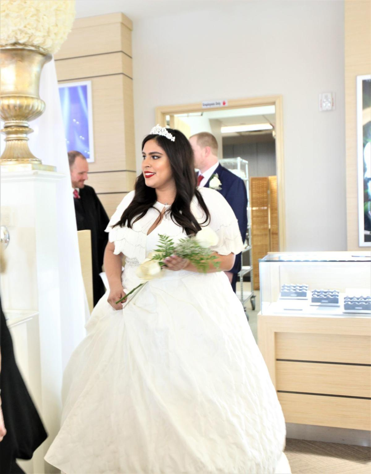 19 couples walk down the aisle at Albert's Diamond Jewelers on Valentine's Day