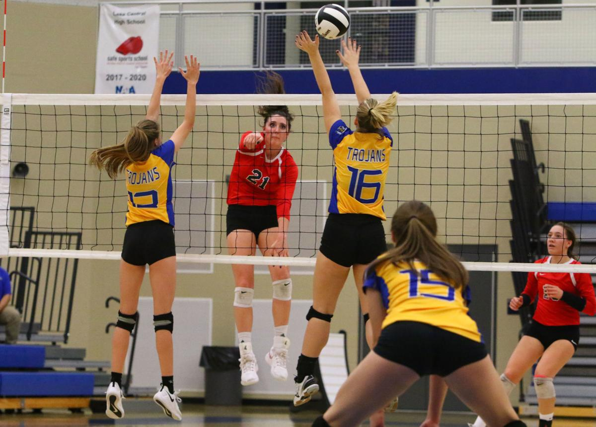 Munster vs. Highland in girls volleyball sectional