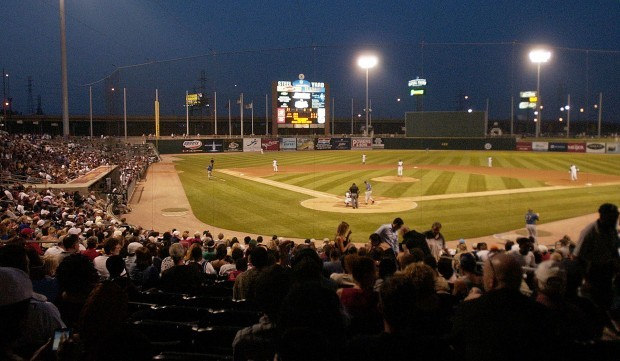 Fans enjoy a game at U.S. Steel Yard