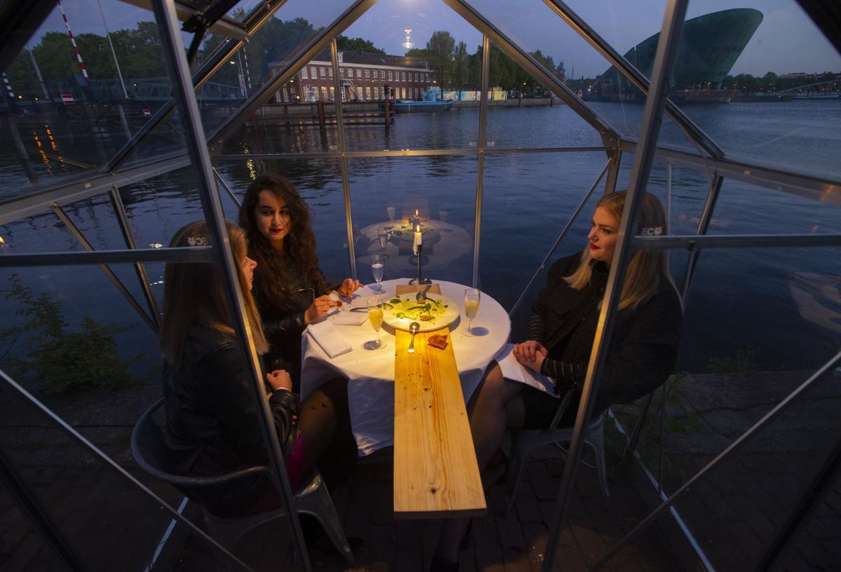 Virus Outbreak Netherlands Future of Dining
