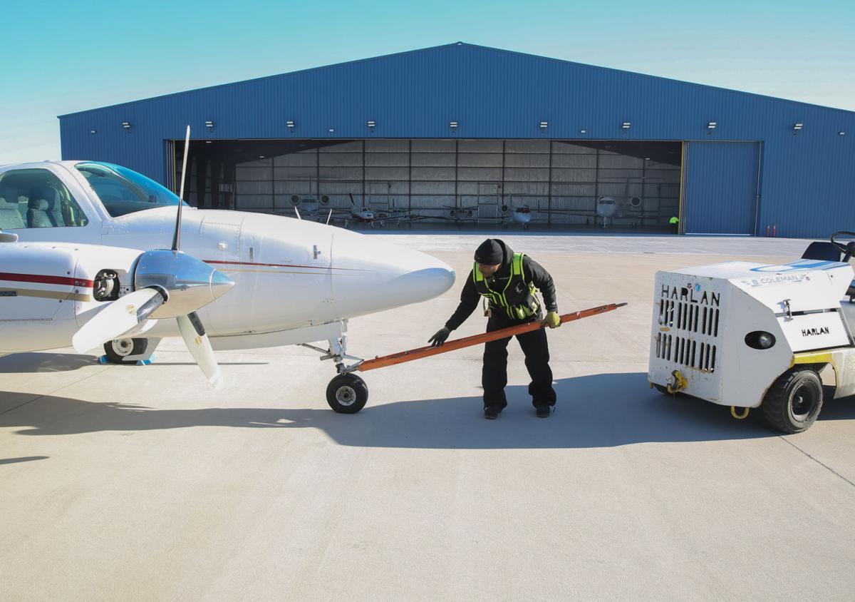 New hangar at B. Coleman